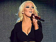 Christina Aguilera sexy performs on the stage