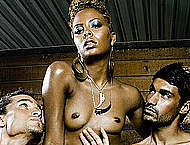 Eva Marcille sexy and topless magazines scans