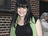 Pauley Perrette at Late Show paparazzi shots