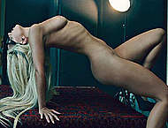 Lady Gaga sexy, see through and naked posing